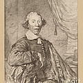 Portrait Of A Seated Man by Cornelis Ploos Van Amstel And Johannes Kornlein After Cornelis Visscher