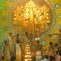 Priest Praying To Goddess Durga Durga Puja Festival Kolkata India by Rudra Narayan  Mitra