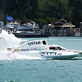 Roostertail From Racing Hydroplanes Boats On The Detroit River For Gold Cup by Bruce Beck