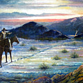 Texas Rangers On His Trail by Donn Kay