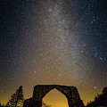 The Milky Way Over The Hafod Arch, Ceredigion Wales Uk by Keith Morris