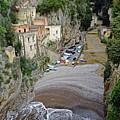 This Is A View Of Furore A Small Village Located On The Amalfi Coast In Italy  by Richard Rosenshein