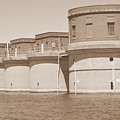 5 Towers Of Lake Murray Sc Sepia by Lisa Wooten