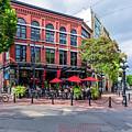 Outdoor Cafe In Gastown, Vancouver, British Columbia, Canada by Viktor Birkus