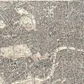 Vintage Map Of London England  by CartographyAssociates