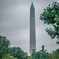 Washington Mall Monumet On A Cloudy Day by Alex Grichenko