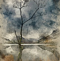 Watercolour Painting Of Beautiful Autumn Fall Landscape Image Of by Matthew Gibson