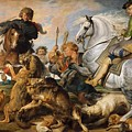 Wolf And Fox Hunt by Peter Paul Rubens