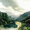 '50 Chevy Pickup In Unaweep Canyon by Lee Bowerman