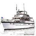 50 Foot Hatteras Motoryacht by Jack Pumphrey