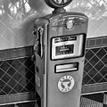 50's Gas Pump Bw by Chuck Kuhn