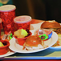 50's Style Food Malt Hamburger Tray  by Chuck Kuhn