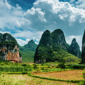Karst Mountains And  Rural Scenery by Carl Ning