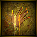 544   Gold Fingers  2017 V by Irmgard Schoendorf Welch