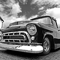 57 Stepside Chevy In Black And White by Gill Billington