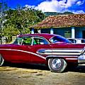 '58 Buick Classic American Car In Cuba by Carlos Alkmin