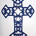 Blue Butterfly-cross by Tong Steinle