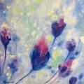 6 Blue Flowers In Breeze by Rita Koivunen
