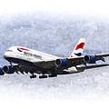 British Airways Airbus A380 Art by David Pyatt