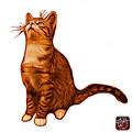 Cat Art - 3771 Wb by James Ahn