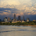 Cleveland Skyline From A Distant Park by Douglas Sacha