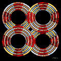 6 Concentric Rings X 4 by Walter Oliver Neal
