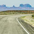 descending into Monument Valley at Utah  Arizona border  by Alex Grichenko