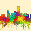 Jersey City New Jersey Skyline by Marlene Watson