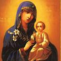 Madonna Enthroned Christian Art by Carol Jackson