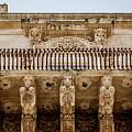 Noto, Sicily, Italy - Detail Of Baroque Balcony, 1750 by Paolo Modena
