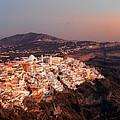 Santorini Skyline Night by Songquan Deng
