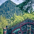 Totems Art And Carvings At Saxman Village In Ketchikan Alaska by Alex Grichenko