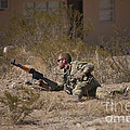 U.s. Soldier Conducts A Combat Training by Terry Moore