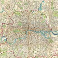 Vintage Map Of London England  by CartographyAssociates