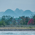 Lijiang River And Karst Mountains Scenery by Carl Ning