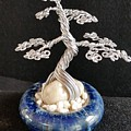 #66 Silver Lining Wire Tree Sculpture by Ricks  Tree Art