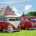 67  Split Screen Vw Campervans by Tim Gainey