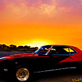 69 Camaro Up At Rocky Ridge For Sunset by Chas Sinklier