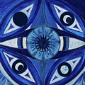 6th Mandala - Third Eye Chakra  by Jennifer Christenson