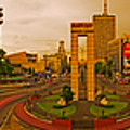 6x1 Philippines Number 332 Welcome Rotonda Quezon City Manila by Rolf Bertram