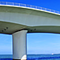 6x1 Sarasota Skyline With Ringling Causeway Bridge by Rolf Bertram