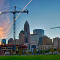 Charlotte North Carolina Early  Morning Sunrise by Alex Grichenko
