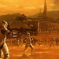 Episode 2 Star Wars Art by Larry Jones