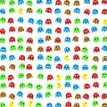 Game Monsters Seamless Generated Pattern by Miroslav Nemecek