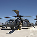 Hh-60g Pave Hawk With Pararescuemen by Terry Moore