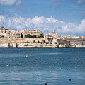 La Valletta Old Town Fortifications Architecture Scenic View In  by Jacek Malipan