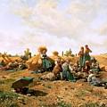 Peasants Lunching In A Field Daniel Ridgway Knight by Eloisa Mannion