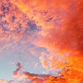 Red Cloudscape At Sunset. by Sv