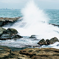 Rocks And Waves At Point Cartwright  by Rob D