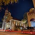 St Augustine City Street Scenes Atnight by Alex Grichenko